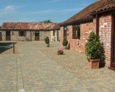 Farm conversion courtyard