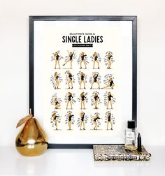 Single Ladies dansent musique affiche Queen B par DrawMeASong