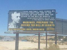 "Sign Calling for Marines to ""Defend Our Bill of Rights"" Goes Viral [PICTURE]"