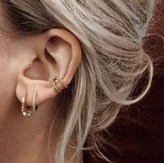 Rose gold helix earrings