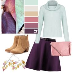Four delightful skirt outfits for fall! Skirt Outfits Modest, Fall Skirts, Fall Outfits, Prom Dresses, Autumn Leaves, Purple, Polyvore, Collection, Shopping