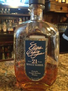 Elijah Craig 21-year single barrel. Hot nose with a vanilla hint. Vanilla and caramel flavored that just sit on the tongue. Nice rim flash on the finish but one that settles in to a nice warmth. Yummy yummy!!