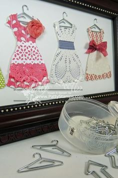 Dress up frame hung up cute clips