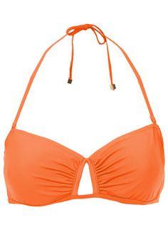 Orange Bandeau Bikini Top