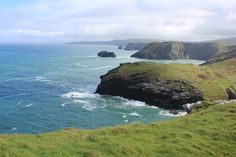 The view from Tintagel Castle in North Cornwall, England #coast #view