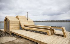 Norwegian students build a contemporary wooden sauna on the sea | Inhabitat - Green Design, Innovation, Architecture, Green Building