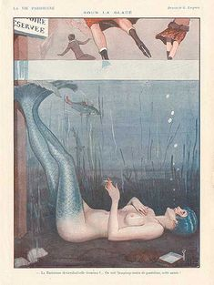 This illustration by Georges Leonnec appeared in risque French magazine La Vie Parisienne in 1926.