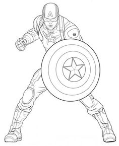 Avengers Captain America coloring page from Marvel's The Avengers category. Select from 25763 printable crafts of cartoons, nature, animals, Bible and many more. – Visit to grab an amazing super hero shirt now on sale! Captain America Coloring Pages, Captain America Drawing, Avengers Coloring Pages, Superhero Coloring Pages, Marvel Coloring, Coloring Pages For Boys, Disney Coloring Pages, Free Coloring Pages, Printable Coloring Pages