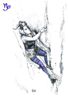 Climbing print of the original illustration All-Powerful Aries. Dimensions: x Printed on beautiful 200 gsm paper. Bouldering Wall, Fire Festival, Fishing Australia, Gesture Drawing, Bungee Jumping, Pretty Art, Mountaineering, Climbers, Rock Climbing