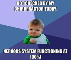 Got checked by my Chiropractor, functioning at 100%