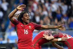 Renato Sanches of Portugal celebrates after Portugal's 1-0 win against France during the UEFA EURO 2016 Final match between Portugal and France at Stade de France on July 10, 2016 in Paris, France.
