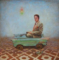 """Rocío Caballero, """" A toda máquina"""", Galería Oscar Román   Arte mexicano contemporáneo"""
