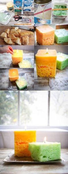 Diy Candles For Kids Wax 55 Ideas Diy Kerzen für Kinderwachs 55 Ideen Homemade Candles, Homemade Gifts, Scented Candles, Velas Diy, Cute Crafts, Diy Crafts, Old Candles, Ideas Candles, Candle Art