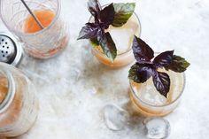 Basil Fig Vodka Smash   @withfoodandlove
