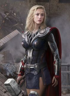 Amber Heard as Thor (or maybe Valkyrie if you want to get nit picky)