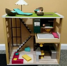 Lori By Our Generation Loft To Love Dollhouse Furniture Doll Mini AG Sz Doll #OurGeneration #HousesFurniture