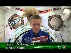 NASA astronaut Karen Nyberg, Class of '94, gives the commencement address to the University of North Dakota summer graduates from the International Space Station. Inspiring!