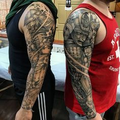 "6,509 Likes, 74 Comments - Asian Inkspiration (@asian_inkspiration) on Instagram: ""Samurai Sleeves By @nhaomkaratattoo """