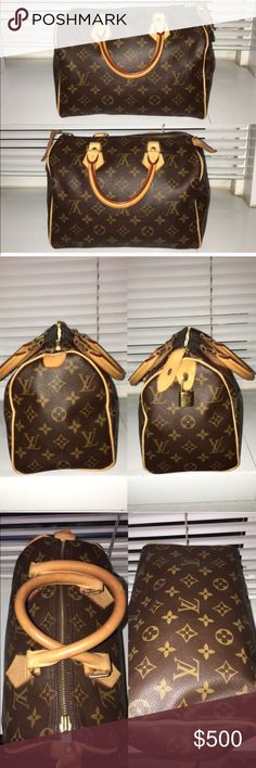 Louis Vuitton Speedy 25 - authentic AUTHENTIC - Purchased at South Coast Plaza LV Store.  Excellent Condition.  Clean inside & out.  Measures 9.8 x 7.5 x 5.9 inches.  No trades.  Selling because I've got a baby on the way.  ☺️ Louis Vuitton Bags
