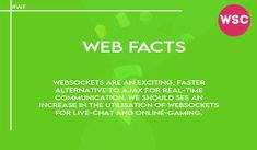 WebSockets are an exciting, faster alternative to AJAX for real-time communication. We should see an increase in the utilisation of WebSockets for live-chat and online-gaming. Email : sales@websolutionscompany.com.au #WebsiteDesignMelbourne #WebsiteDesignAgencyMelbourne #WebsiteDesignCompanyinMelbourne #WebDesignSydneyWebsiteDesign #websolutionscompany #wsc Brisbane, Melbourne, Immigration Help, Affordable Website Design, Marketing Channel, Website Design Company, Web Design Agency, Financial Planner, Education System