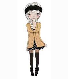 kelli murray larson. i love that she draws her outfits!