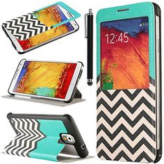 Note 3 Case, Galaxy Note 3 Flip Case - ULAK Galaxy Note 3 Case View Window Deluxe Ultra Slim PU Leather Folio Case Cover for Samsung Galaxy Note 3 N9000 (AT&T, T-Mobile, Sprint, Verizon) with Stylus and Clear Screen Protector (Follow the Sky) ULAK http://www.amazon.com/dp/B00KR984FM/ref=cm_sw_r_pi_dp_qxGkub11H411N