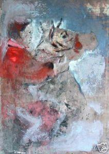 Ignacio Burgos - Jinete Con Caballo 2 - Signed Painting