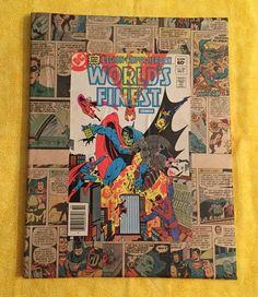 "Batman and Superman Comic Book Decoupage Wall Art 11""x14"" Collage #worldsfinest284 by ComicArtByHans on Etsy https://www.etsy.com/listing/214048377/batman-and-superman-comic-book-decoupage"