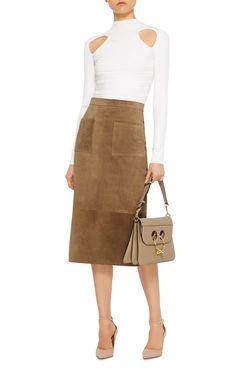 Suede Odessa Skirt by CUSHNIE ET OCHS Now Available on Moda Operandi