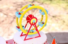 """Photo 24 of 25: Carnival/Circus / Birthday """"Circus Themed 1st Birthday"""" 
