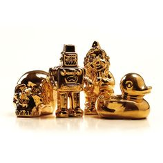 Goldies Robot skulptur i gruppen Inredningsdetaljer / Dekoration / Träfigurer & Skulpturer hos RUM21.se (111070)