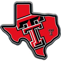 Offer the perfect accessory your vehicle with the help of this Great American Products Texas Tech Texas Shaped Hitch Cover. Texas Tech University, University Of Mississippi, Texas Tech Red Raiders, Ole Miss, Dallas Mavericks, Arizona Cardinals, Los Angeles Lakers, Chevrolet Logo, Shapes