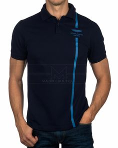 Polo HACKETT ASTON MARTIN ® Azul Marino - Vert Stripe | ENVIO GRATIS Polo Shirt Design, Tee Shirt Designs, Smart Casual Polo Shirt, Golf Fashion, Mens Fashion, Mobile Shop Design, Moda Men, Slogan Tee, Polo T Shirts