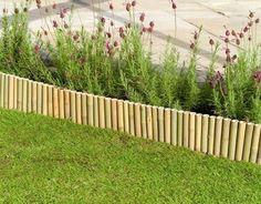 bamboo garden edging fence Bamboo Garden Fences, Garden Fence Panels, Garden Edging, Garden Borders, Small Back Gardens, Moon Garden, Landscape Edging, Trees To Plant, Istanbul
