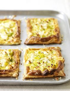 Make the most of ready-made puff pastry to create these easy vegetarian pastries filled with tender leeks and creamy goat's cheese. Serve crisp and golden with salad for lunch.