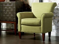 A colorful statement piece can brighten up any room. We love our Clover Chair. Happy St Patrick's Day!