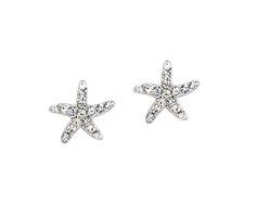 #starfishearrings #cubiczirconia #starfish #earrings #sparklyearrings YourBasicJewelry.com YBJ Starfish Earrings, Ark, Brooch, Stuff To Buy, Collection, Jewelry, Brooch Pin, Jewlery, Jewels