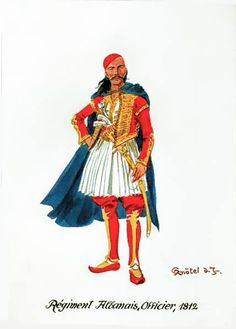 Regiment Albanais, Officier, 1812