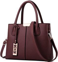 Amazon.com: COCIFER Women Top Handle Satchel Handbags Shoulder Bag Tote Purses Messenger Bags: Shoes Best Handbags, Fashion Handbags, Purses And Handbags, Leather Purses, Leather Handbags, Pu Leather, Tote Purse, Crossbody Bag, Handbag Stores