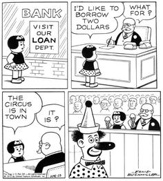 Nancy comics (Ernie Bushmiller)