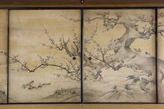 狩野永徳筆『花鳥図』4s Japanese Prints, Japanese Art, Japanese Beauty, Japanese Painting, Chinese Painting, Ceiling Painting, Japanese Screen, Bonsai Art, Woodblock Print