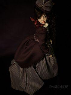 Handmade Ooak doll by Romantic Wonders Silk Dress, Dress Skirt, Ooak Dolls, Cotton Dresses, Bodice, Wigs, Goth, Velvet, Romantic