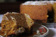 Pumpkin Spice Cake with Salted Caramel Sauce