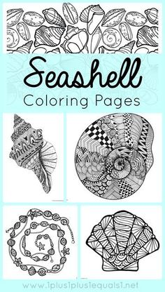 (1plus1plus1equals1.net) We have a brand new set of Seashell Coloring printables for you! These are great for adults who like to color as…