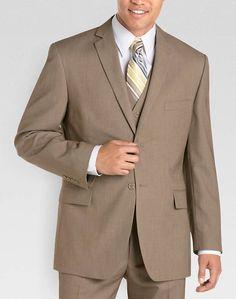 Wilke Rodriguez Tan Tic Vested Suit - Modern Fit (Trim) | Men's Wearhouse For Wyn