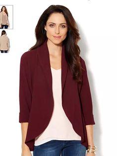 Burgundy fly away jacket
