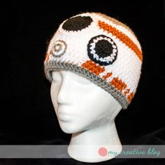 BB8 Beanie – Free Crochet Pattern in pre-schooler to adult size at My Creative Blog by Heather Boyer.
