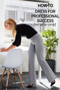 Find workwear that doubles as workout wear with Betabrand's unique dress pant yoga pants. Perfect for performing the Lunchtime Lotus and the Power Pointer, these pants come in a variety of colors that combine a soft, stretchy performance knit with dress-pant stylings. Look professional and feel comfortable with 20% off your first pair at Betabrand today.
