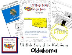 US State Study of the Week Weekly Series FREE Oklahoma Pack
