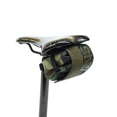 STW Black Nylon 29er MTB Roadie Cycling Bicycle Seat Pack Saddle Bag Tool Roll